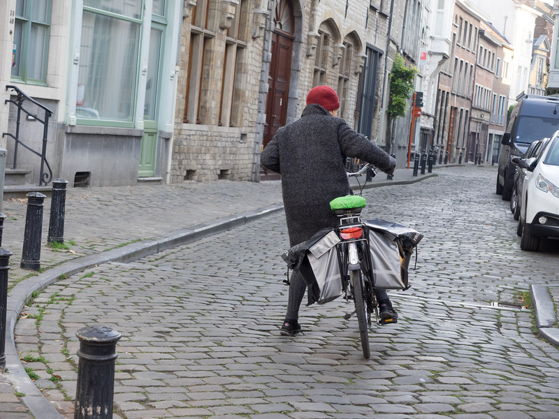 All ages take to their bicycles in Ghent.