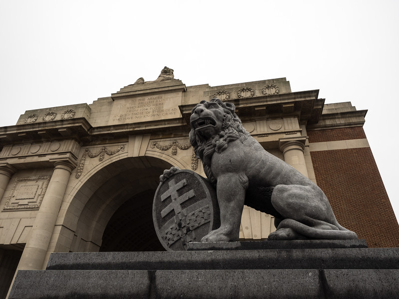 "The inscription - composed by Rudyard Kipling-  reads:<br /> <br /> ""To the armies of the British Empire who stood here from 1914 to 1918 and to those of their dead who have no known grave"""