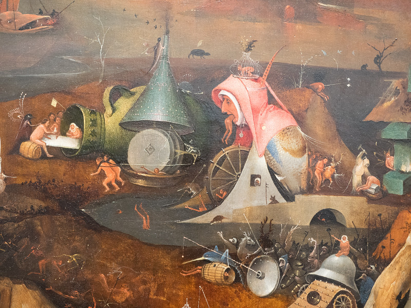 A detail from The Last Judgement by Hieronymus Bosch, in the Groeninge Museum  - crazy name, crazy guy. I spent ages looking at this, there was so much going on! Hieronymus clearly had a fantastic imagination.