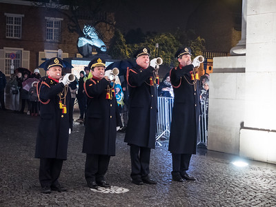 The Last Post at the Menin Gate, a very moving event. The town has been doing this every evening since the 1920s, apart from the German occupation during the Second World War. There was a substantial crowd for the ceremony, approaching a thousand people, I would guess.