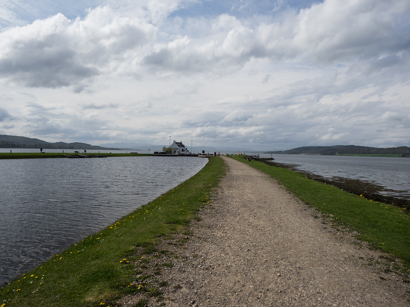 The end of the Caledonian canal.