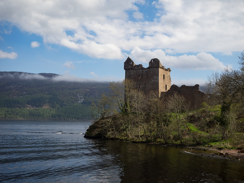 Famous Urquhart Castle on Lough Ness.