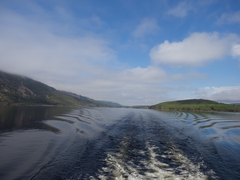Looking back as we cruised the lough.