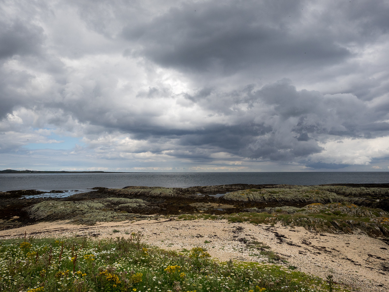 Brooding skies - we managed to miss the rain.