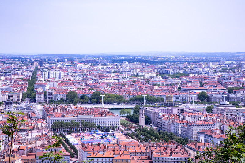 Looking out at Lyon from Fourvière