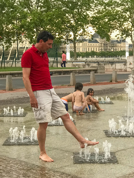 Yvan - Testing the Water and His Courage at a Fountain