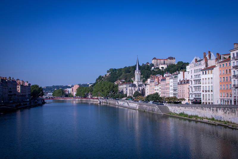 Another View of Église Saint-Georges, Across the Saône River