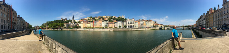 Enjoying the View of Lyon Across the River