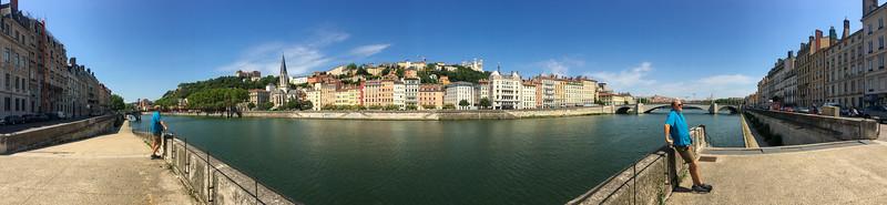 Enjoying the View of Lyon Across the River