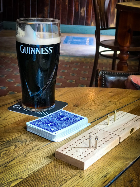 Ahhh. Guinness and Cribbage. What could be better?