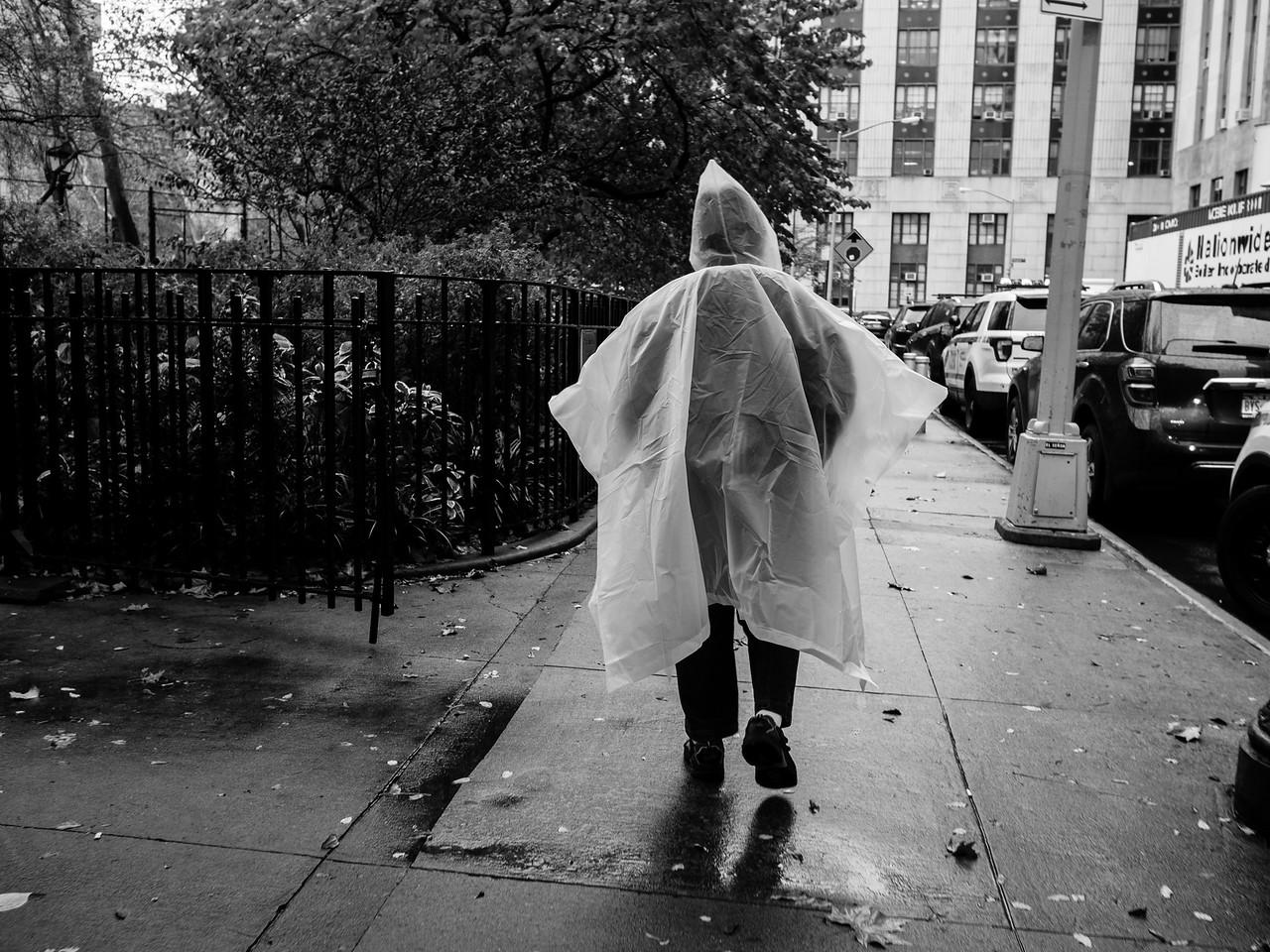 Rain wear in Chinatown.