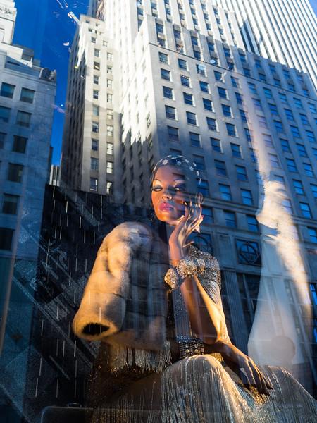A shop window near Fifth Avenue.