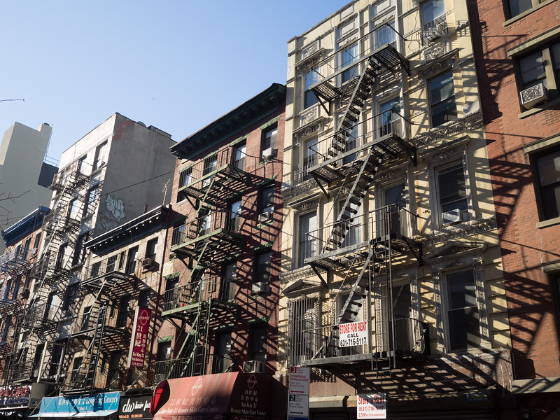 Lots of fire escapes.