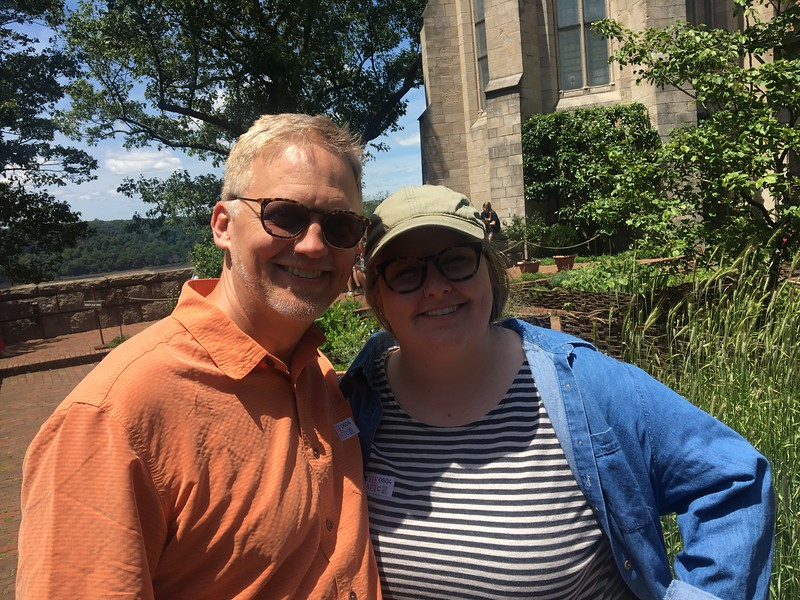 With Audrey at the Cloisters