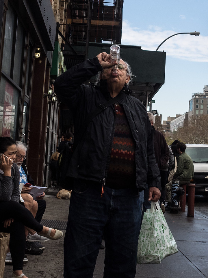 A quick drink, on the Lower East Side.