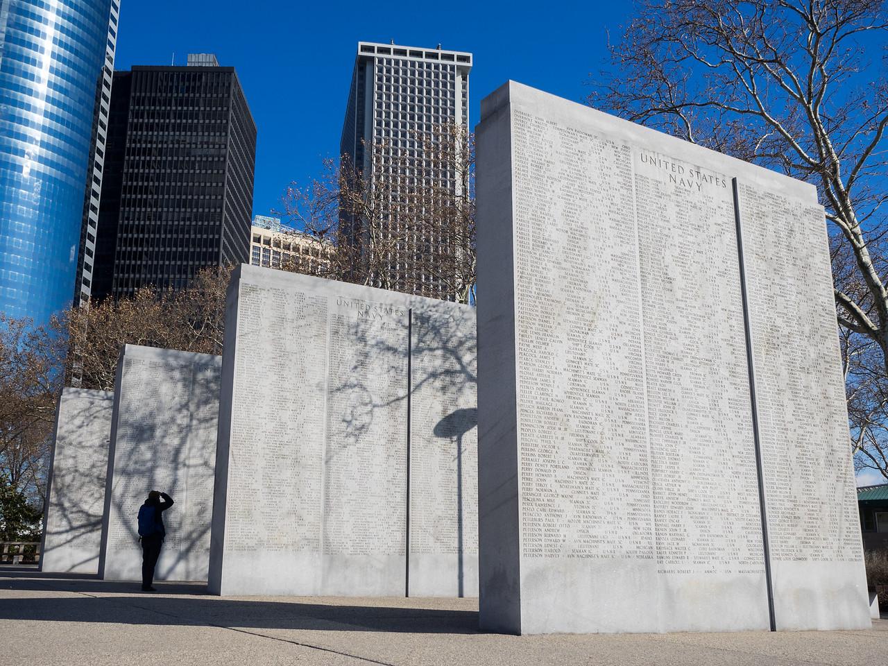 War memorial in Battery Park.