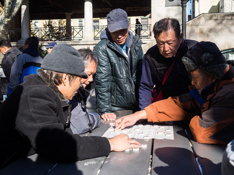 Chinese chequers in Chinatown...