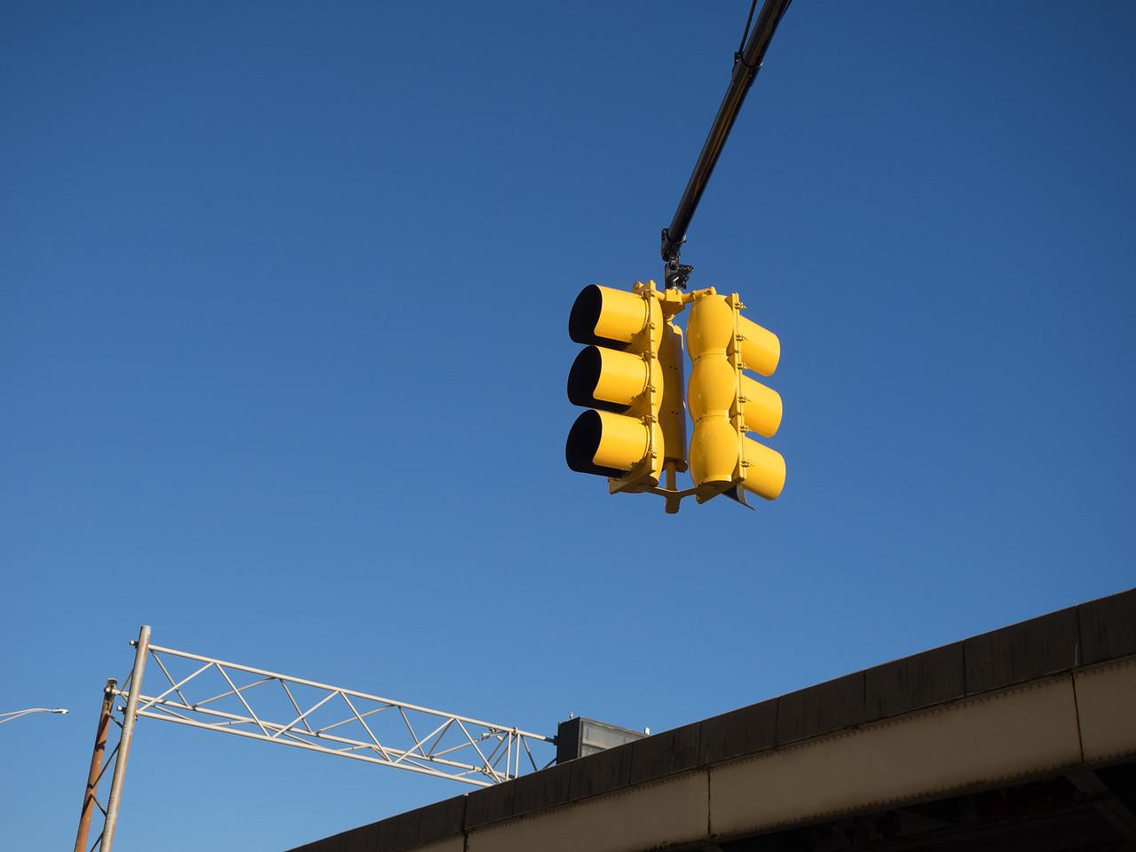 Traffic lights near Brooklyn bridge.