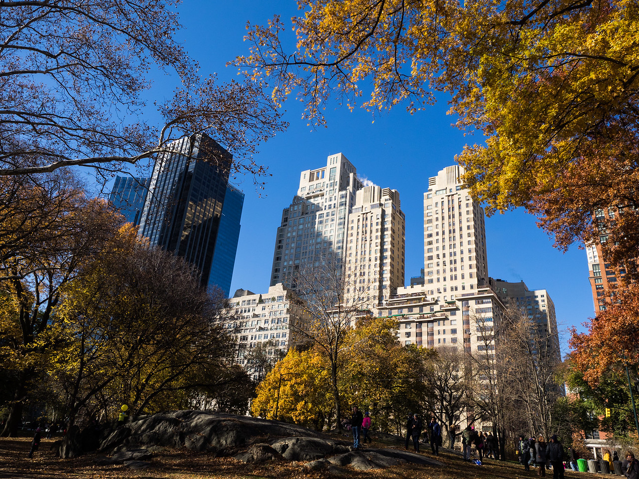A beautiful day in Central Park, after the Macy's parade.