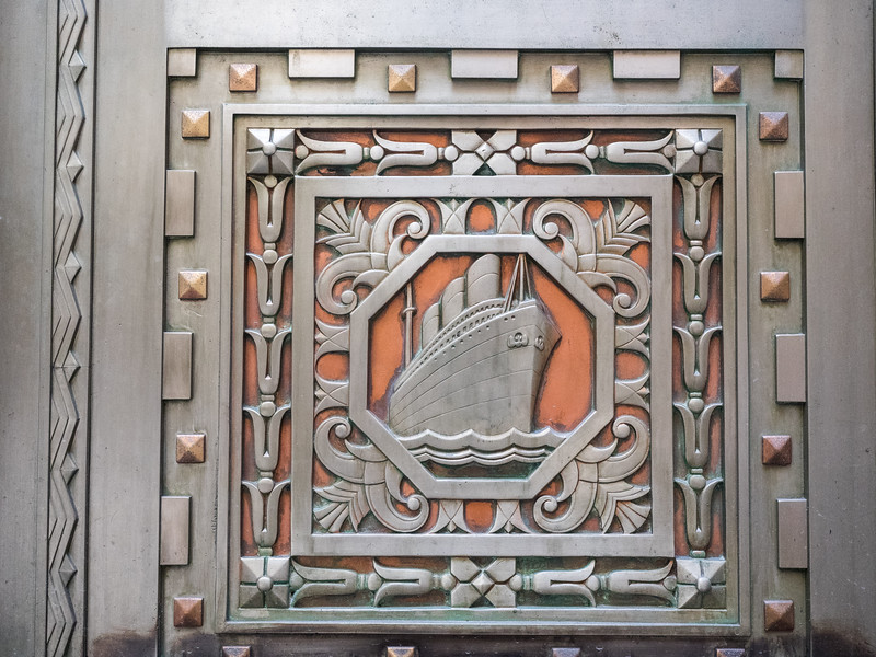 Fantastic Art Deco decoration on a building near Wall Street.
