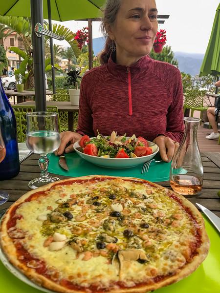 Salad, Pizza, Rose Wine and Good Company