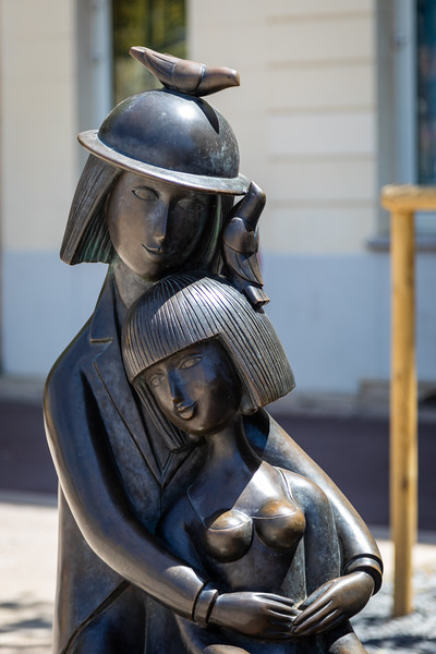 A Statue in Front of the Peynet Museum