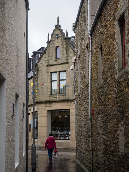 This little lane opened on to the main street in Kirkwall.