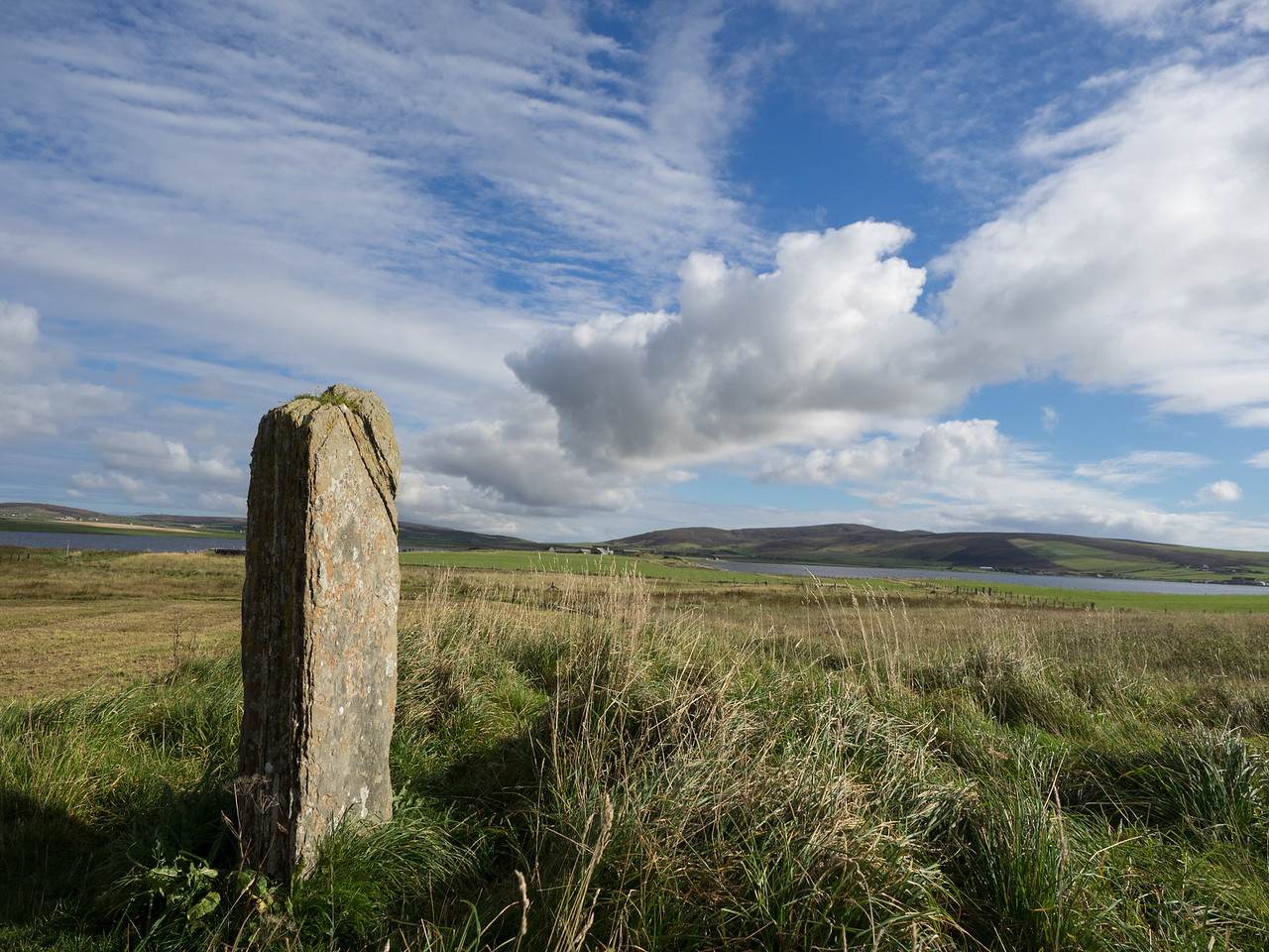 An outlying stone, at the Ring of Brodgar.