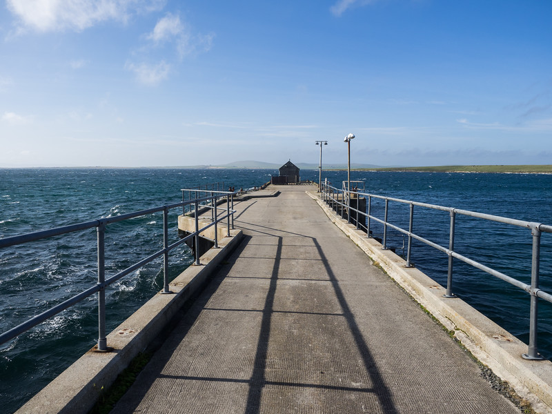 The old pier on Papa Westray.
