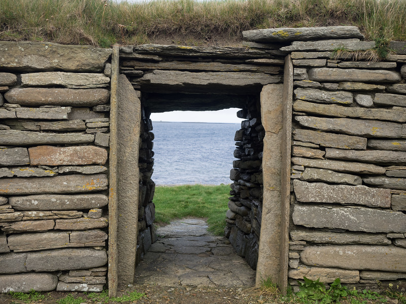 The oldest discovered Neolithic house in Northern Europe, at the Knap of Howar, Papa Westray.