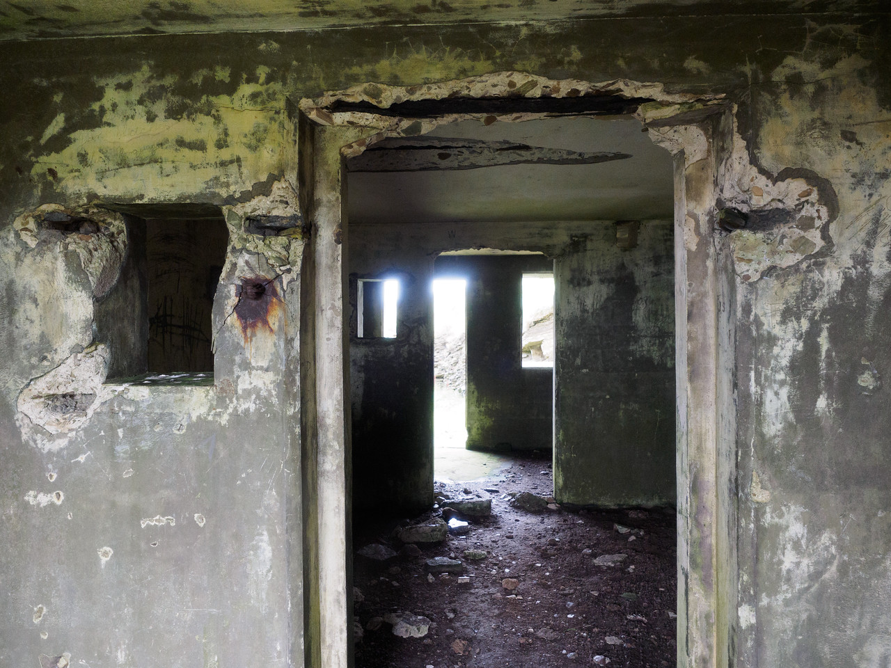 This building was part of a gun battery from the First World War.
