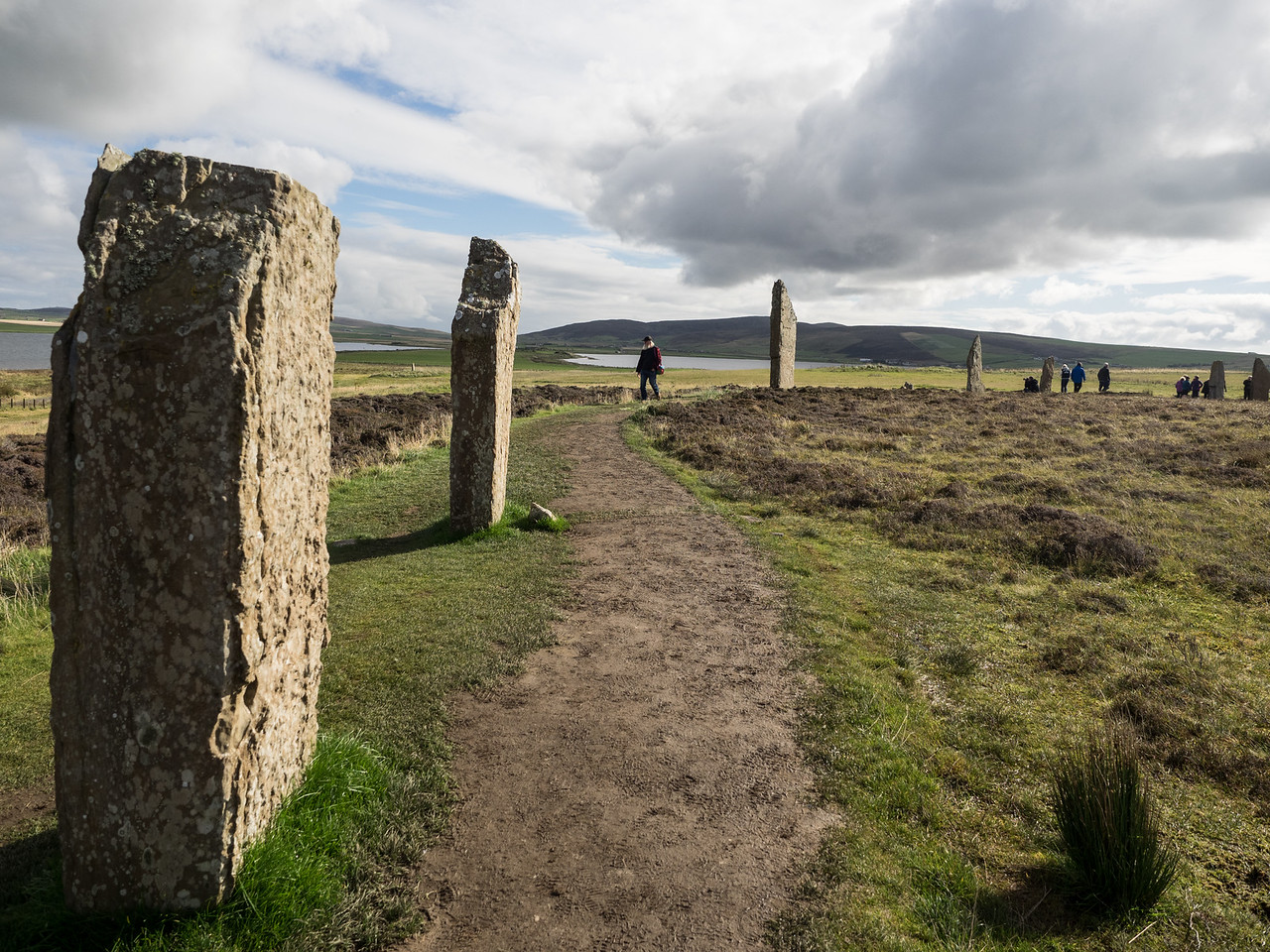 The enormous Neolithic stone circle at the Ring of Brodgar.