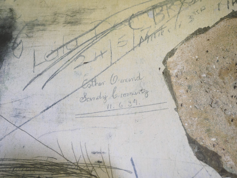 Some later graffiti  in the First World War bunker. I think it's  June 1939 (could be 34) - whichever it is, their world was about to change soon.