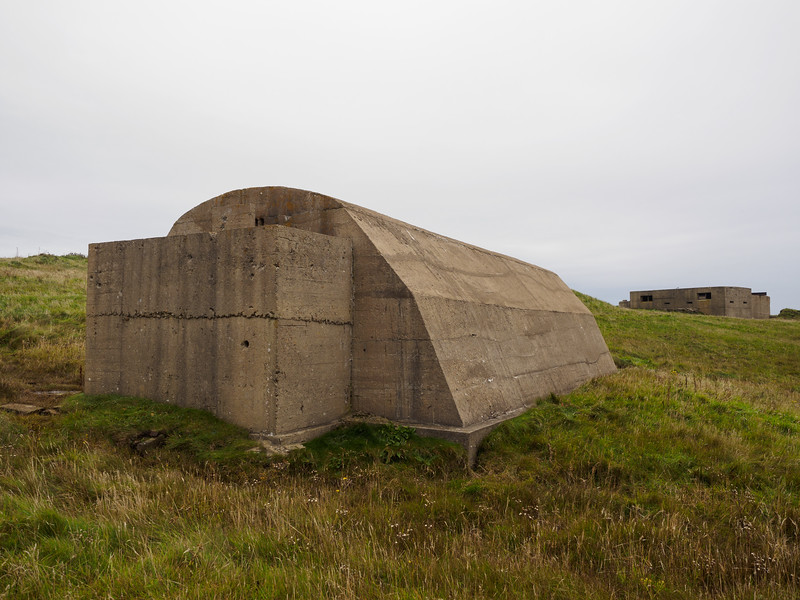 Remains of a WW2 gun battery, Hoxa Head