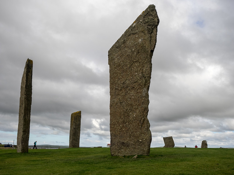 The impressive Neolithic stone circle, the Stones of Stenness.