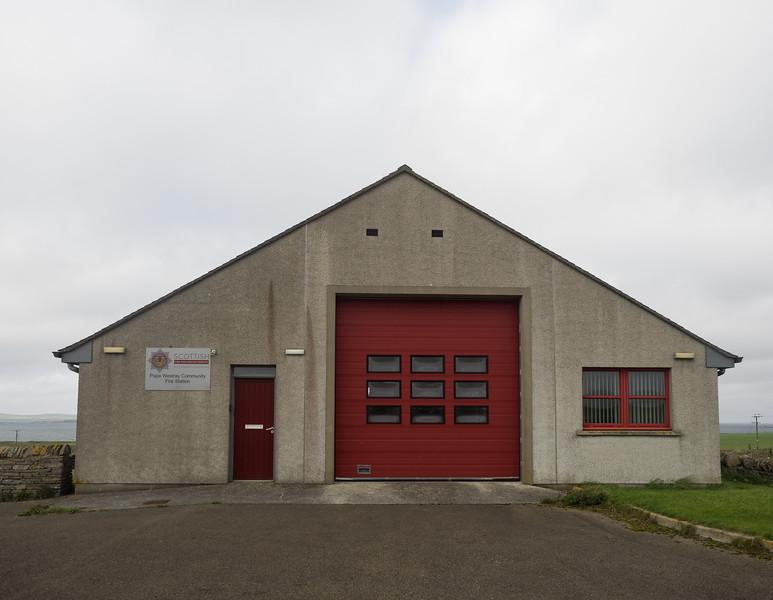 Papa Westray fire station!