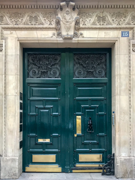 Ornate Door in Paris