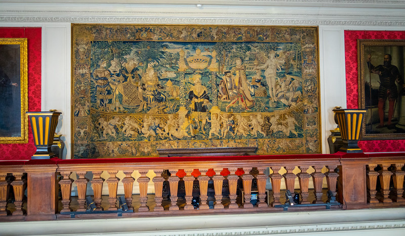 A Very Old Tapestry (15th century??) in the Gallery at the J-A museum