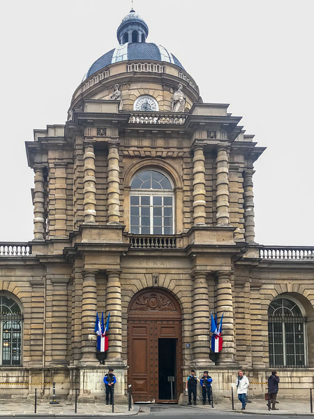 The Front Entrance to the Senate - The Luxembourg Palace