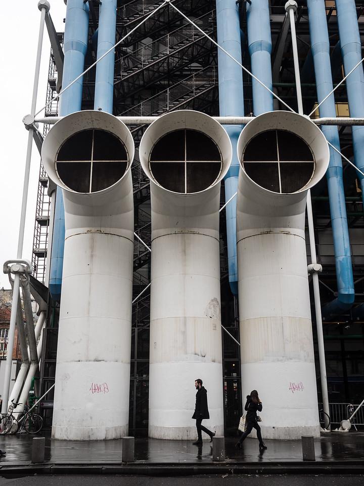Outside the Pompidou centre.