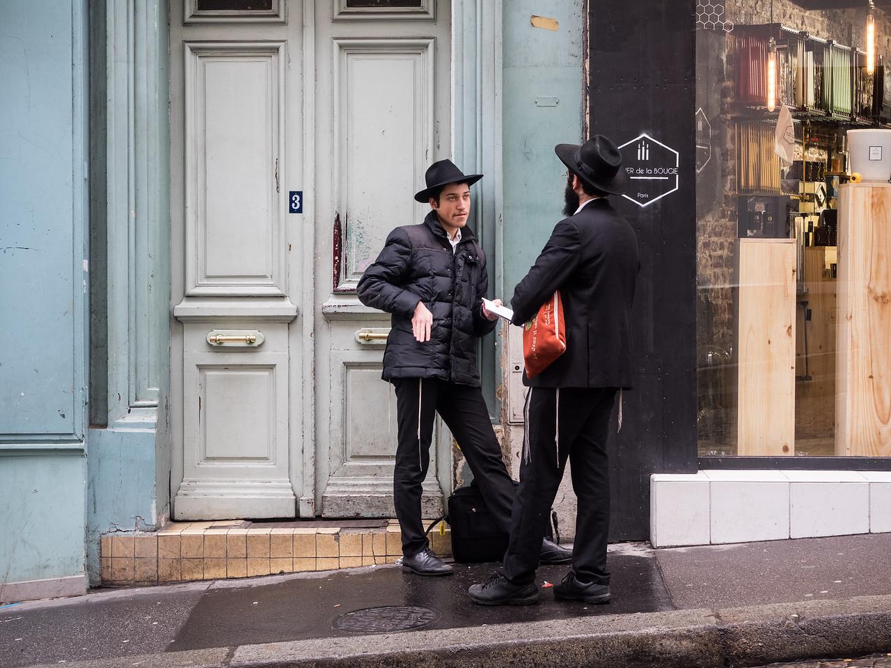 A couple of debonair-looking Hasidic men in Montmartre.