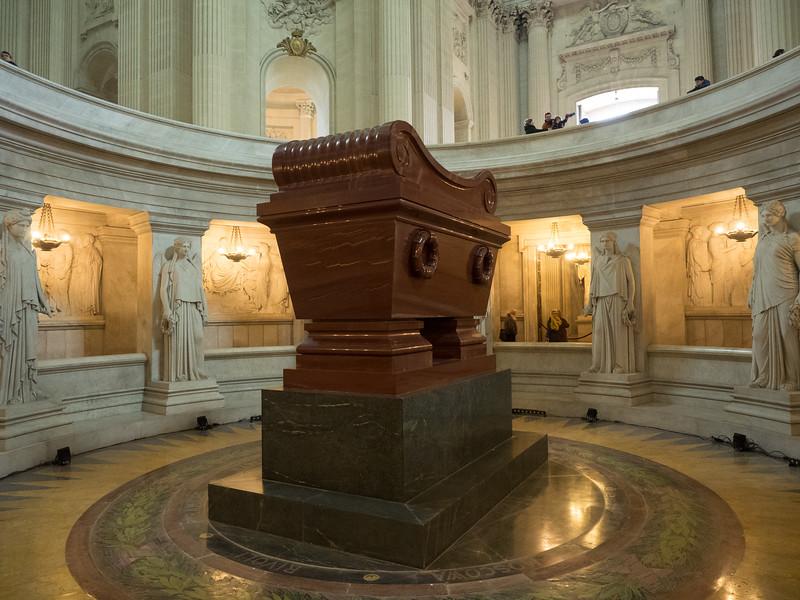 Napoleon's very impressive tomb.
