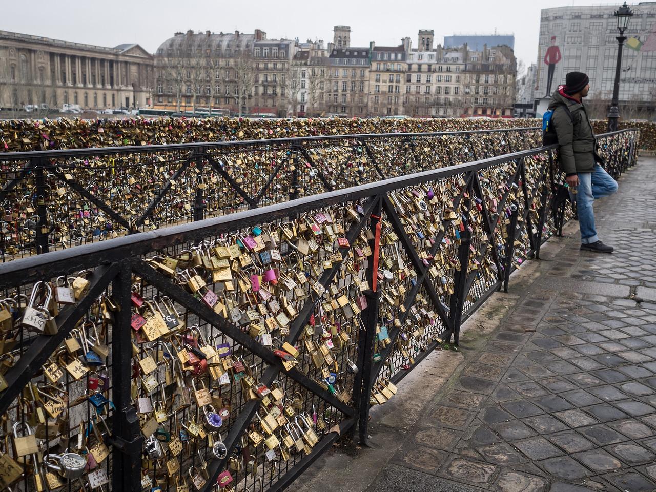 Many, many padlocks on Pont Neuf. I wonder how many of these love affairs have lasted.