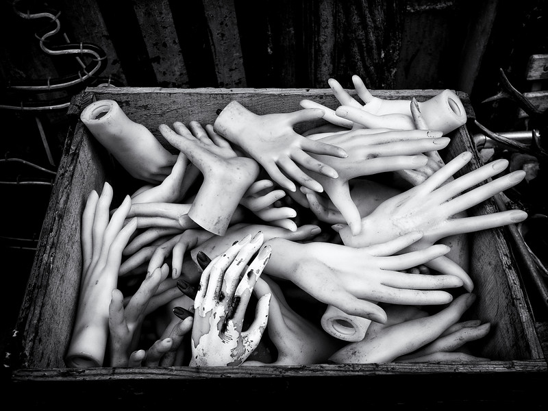 A box of hands outside a strange shop in Montmartre.<br /> <br /> Fin!