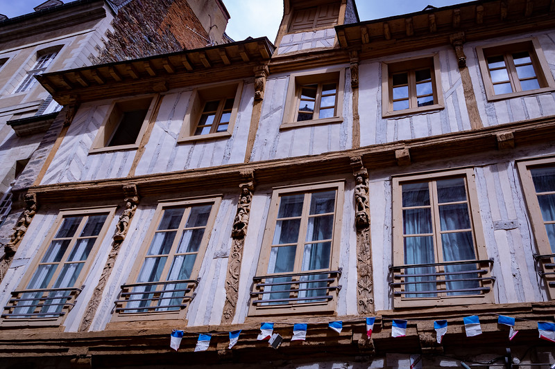 Half-Timbered House with Elaborate Carvings