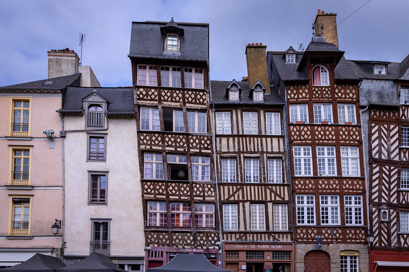 Medieval Timber Framed Houses at Place Champ-Jaquet