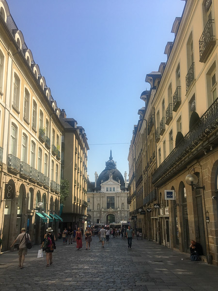 Mostly Pedestrian Street in the Old Portion of Rennes