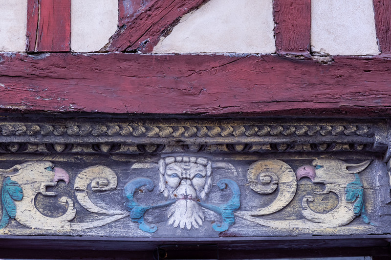Detail on Half-Timbered Building