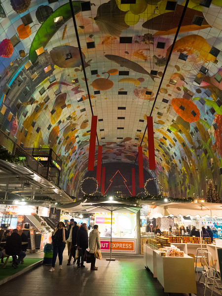 Inside the Markthal.