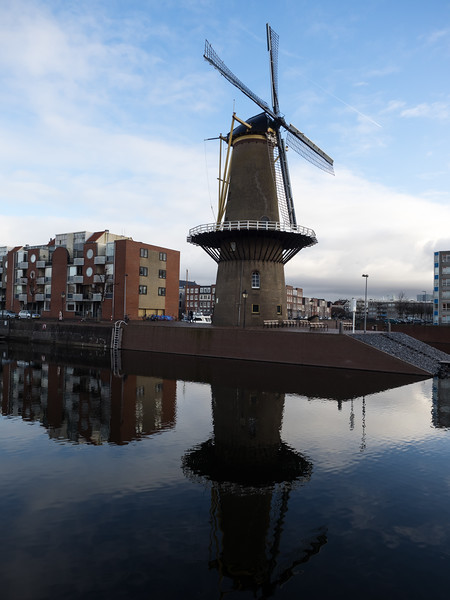 A real surviving windmill at Delfshaven.
